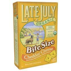 Late JulyOrganic Bite Size Cheddar Cheese Crackers