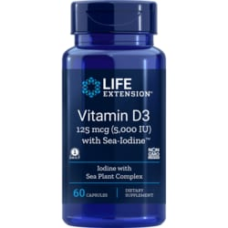 Life ExtensionVitamin D3 5,000 IU with Sea-Iodine