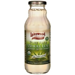LakewoodOrganic Fresh Pressed Whole Leaf Aloe Vera with Lemon