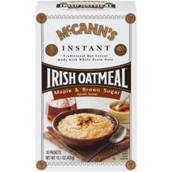 McCann's Irish Oatmeal McCann's Instant Irish Oatmeal - Maple & Brown Sugar