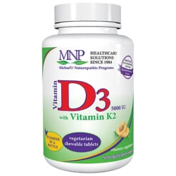 Michael's Naturopathic Programs Vitamin D3 with Vitamin K2 - Natural Apricot Flavor