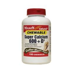 Mason Natural Super Calcium 600 + D3 Coffee Mocha Flavor