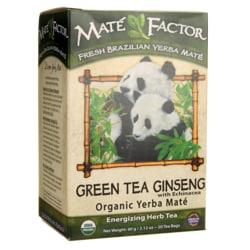 Mate Factor Organic Yerba Mate Green Tea Ginseng