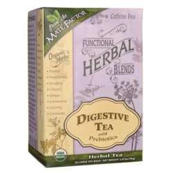 Mate FactorFunctional Herbal Blends - Digestive Tea with Prebiotics