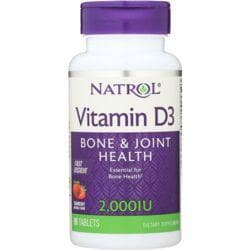 NatrolVitamin D3 Fast Dissolve - Strawberry