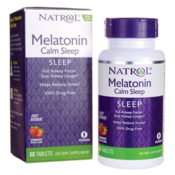 NatrolMelatonin Calm Sleep Fast Dissolve - Strawberry