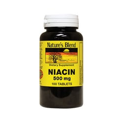 Nature's Blend Niacin 500 mg