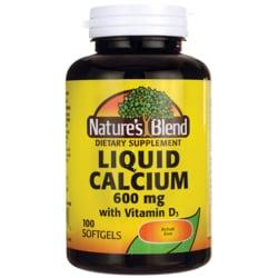 Nature's Blend Liquid Calcium Softgels with D3