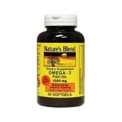 Nature's BlendOdorless Omega-3 Fish Oil Mercury Free