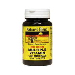 Nature's Blend Multiple Vitamin with Minerals No Iron