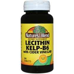 Nature's Blend Lecithin Kelp-B6 with Cider Vinegar