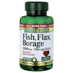 Nature's BountyFish, Flax, Borage Omega 3-6-9