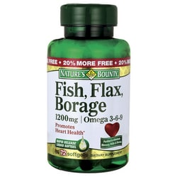 Nature's BountyFish, Flax, Borage Omega 3-6-9
