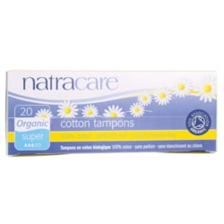 NatracareOrganic Non-Applicator Super Tampons