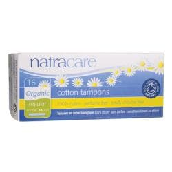 NatracareOrganic Cotton Tampons with Applicator - Regular