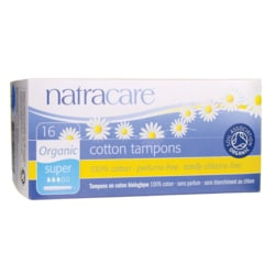 Natracare Organic Applicator Super Tampons