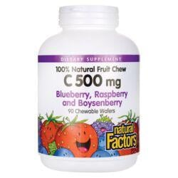 Natural FactorsChewable Vitamin C - Blueberry, Raspberry & Boysenberry