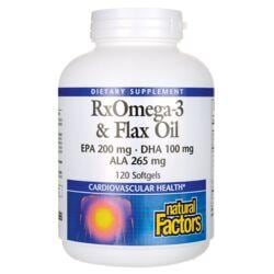 Natural FactorsRxOmega-3 & Flax Oil