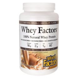 Natural FactorsWhey Factors Natural Double Chocolate Flavor