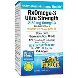 Natural FactorsRxOmega-3 Factors Ultra Strength with Vitamin D3