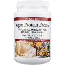 Natural FactorsVegan Protein Factors Vanilla Bean