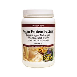Natural Factors Vegan Protein Factors Vanilla Bean