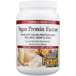 Natural Factors Vegan Protein Factors Vanilla Bean