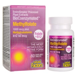 Natural FactorsBioCoenzymated Methylfolate plus B12