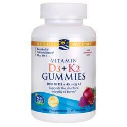 Nordic NaturalsVitamin D3 + K2 Gummies - Pomegranate