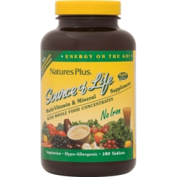 Nature's Plus Source of Life Multi-Vitamin & Mineral - No Iron