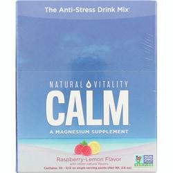 Natural Vitality Natural Calm Anti-Stress Drink Raspberry-Lemon Flavor