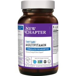 New ChapterTiny Tabs Whole-Food Multivitamin