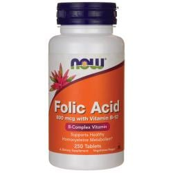 NOW FoodsFolic Acid 800 mcg with Vitamin B-12