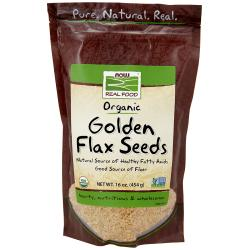NOW FoodsOrganic Golden Flax Seeds