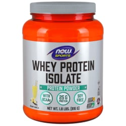 NOW Foods Whey Protein Isolate Natural Vanilla