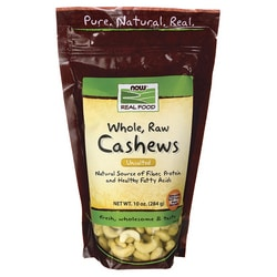 NOW Foods Whole, Raw Cashews - Unsalted