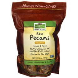 NOW Foods Raw Pecans Halves & Pieces - Unsalted