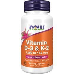 NOW FoodsVitamin D-3 & K-2
