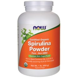NOW Foods Certified Organic Spirulina Powder