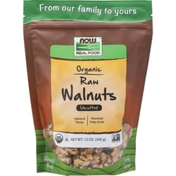 NOW FoodsOrganic Raw Walnuts - Unsalted