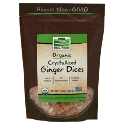 NOW Foods Crystallized Ginger Dices