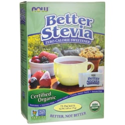 NOW FoodsCertified Organic Better Stevia Zero Calorie Sweetener