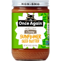 Once AgainOrganic Sunflower Seed Butter Sugar & Salt Free