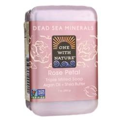 One With NatureDead Sea Minerals Triple Milled Bar Soap - Rose Petal