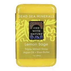 One With NatureDead Sea Minerals Triple Milled Bar Soap - Lemon Sage