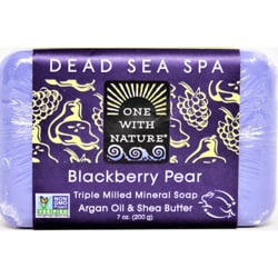 One With Nature Dead Sea Minerals Triple Milled Bar Soap - Blackberry Pear