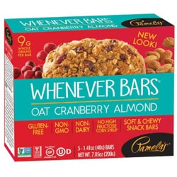 Pamela's ProductsWhenever Bars - Oat Cranberry Almond