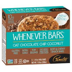 Pamela's ProductsWhenever Bars - Oat Chocolate Chip Coconut