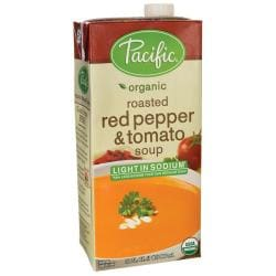 Pacific Natural FoodsOrganic Roasted Red Pepper & Tomato Soup - Light in Sodium