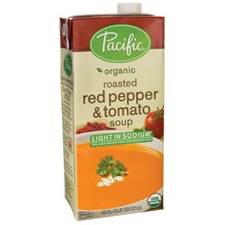 Pacific Natural FoodsOrganic Roasted Red Pepper & Tomato Soup - Light in Sod